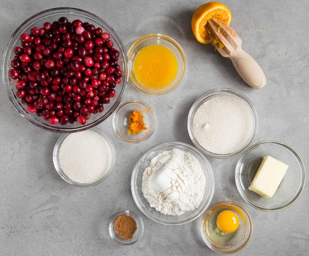 ingredients needed to make Cranberry Cobbler