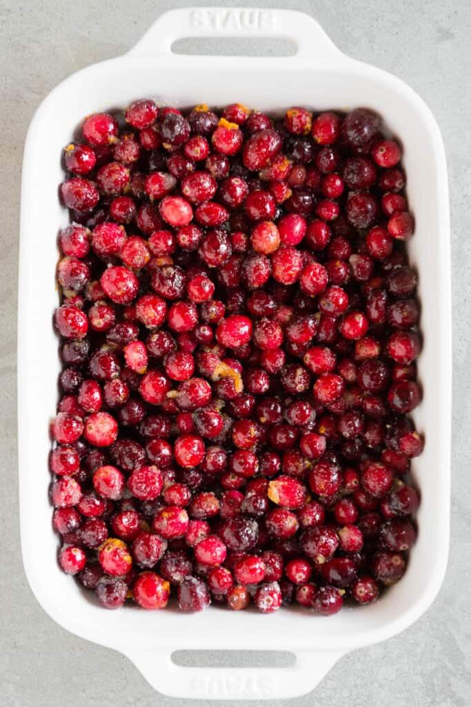 fresh cranberries tossed with orange zest and sugar