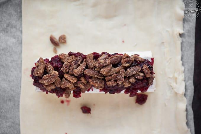 ... brie en brie en croûte with cranberry pecan brie en croute rosemary