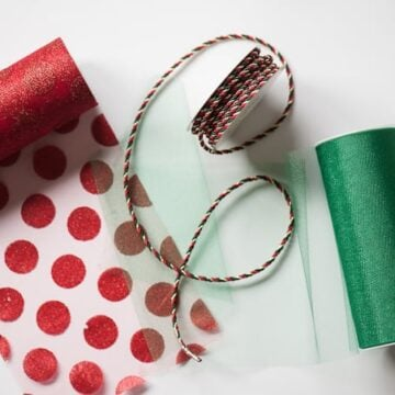 ribbons and other decorations