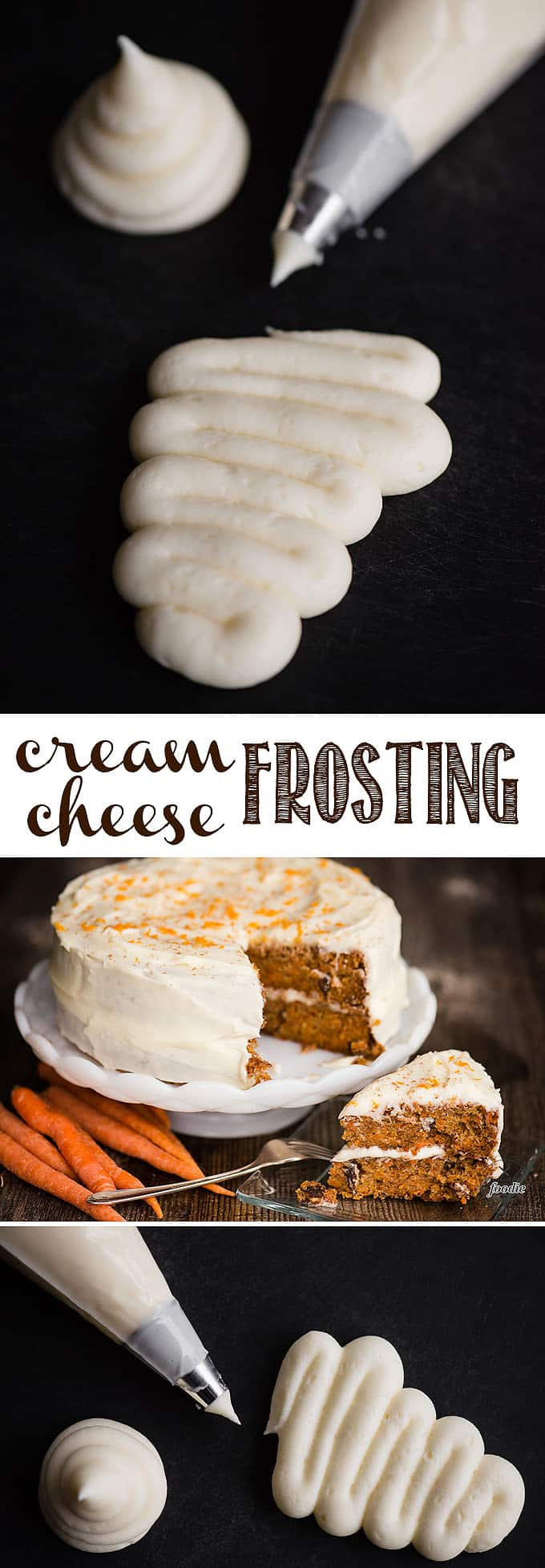 Cream Cheese Frosting is an American favorite when it comes to topping cakes and cupcakes. Just a few ingredients come together to form a super sweet, smooth, and decadent frosting that pairs with just about any kind of cake. There are a few tips and tricks with the ingredients and mixing needed to make it perfect! #frosting #creamcheese #creamcheesefrosting #cake #cupcakes