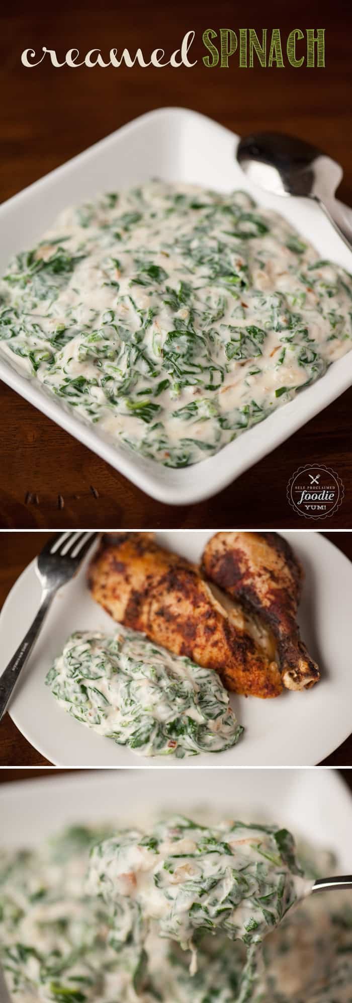 This Creamed Spinach is a decadent and rich side dish that combines fresh spinach with a creamy sauce and is the perfect addition to a romantic dinner.