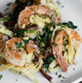 Creamy Sun Dried Tomato Shrimp Pasta