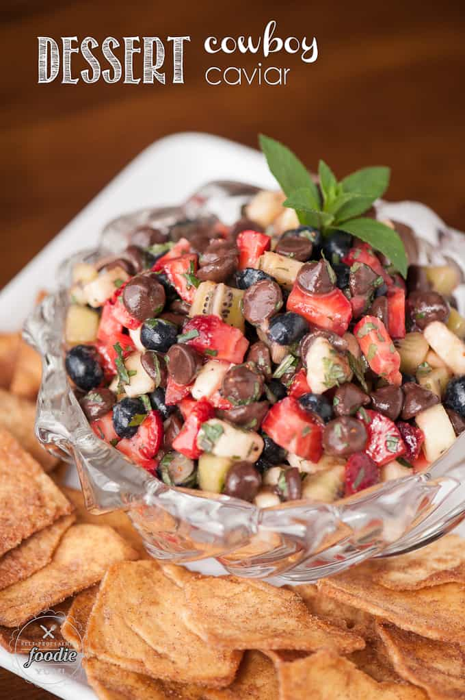 If you're looking for a interesting take on a classic summer recipe, this Dessert Cowboy Caviar looks just like the original but tastes nothing like it!