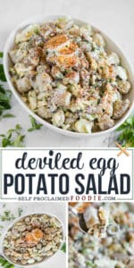 how to make instant pot loaded Deviled Egg Potato Salad