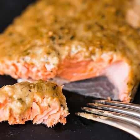 Cedar Plank Dijon Salmon