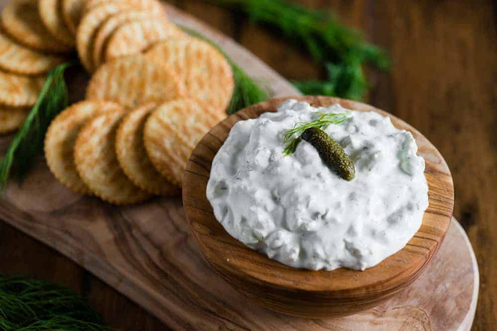 The BEST Dill Pickle Dip Recipe | Self Proclaimed Foodie