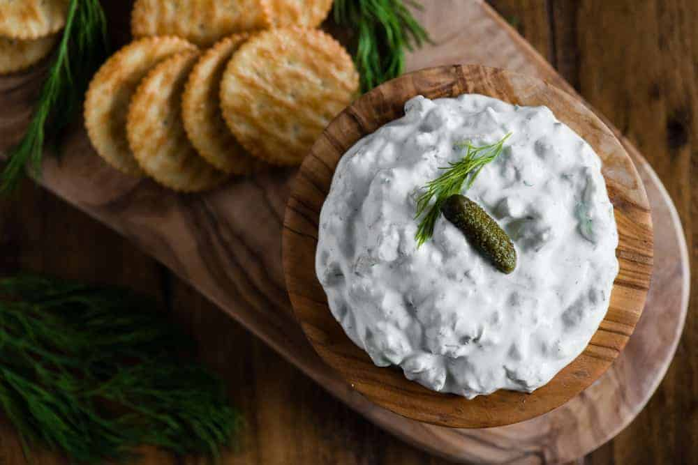 easy dill pickle dip appetizer recipe