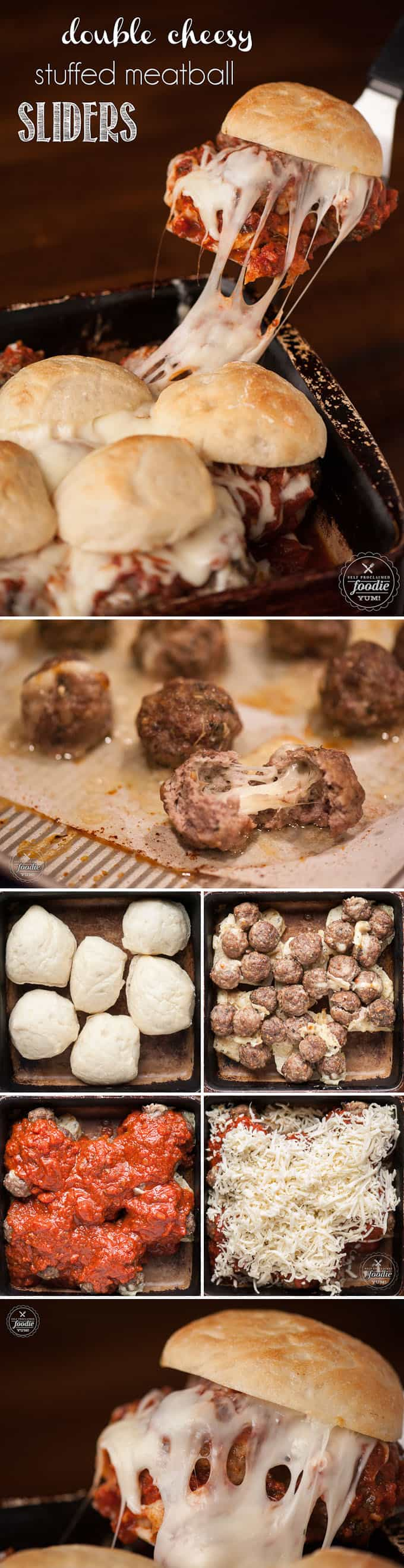 Celebrate the magic of mealtime with these easy-to-make Double Cheesy Stuffed Meatball Sliders that the entire family will love.