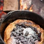 I love outdoor cooking, especially when I'm camping, and waking up to a Dutch Oven Dutch Baby smothered in sweet berries is such a treat for my family!