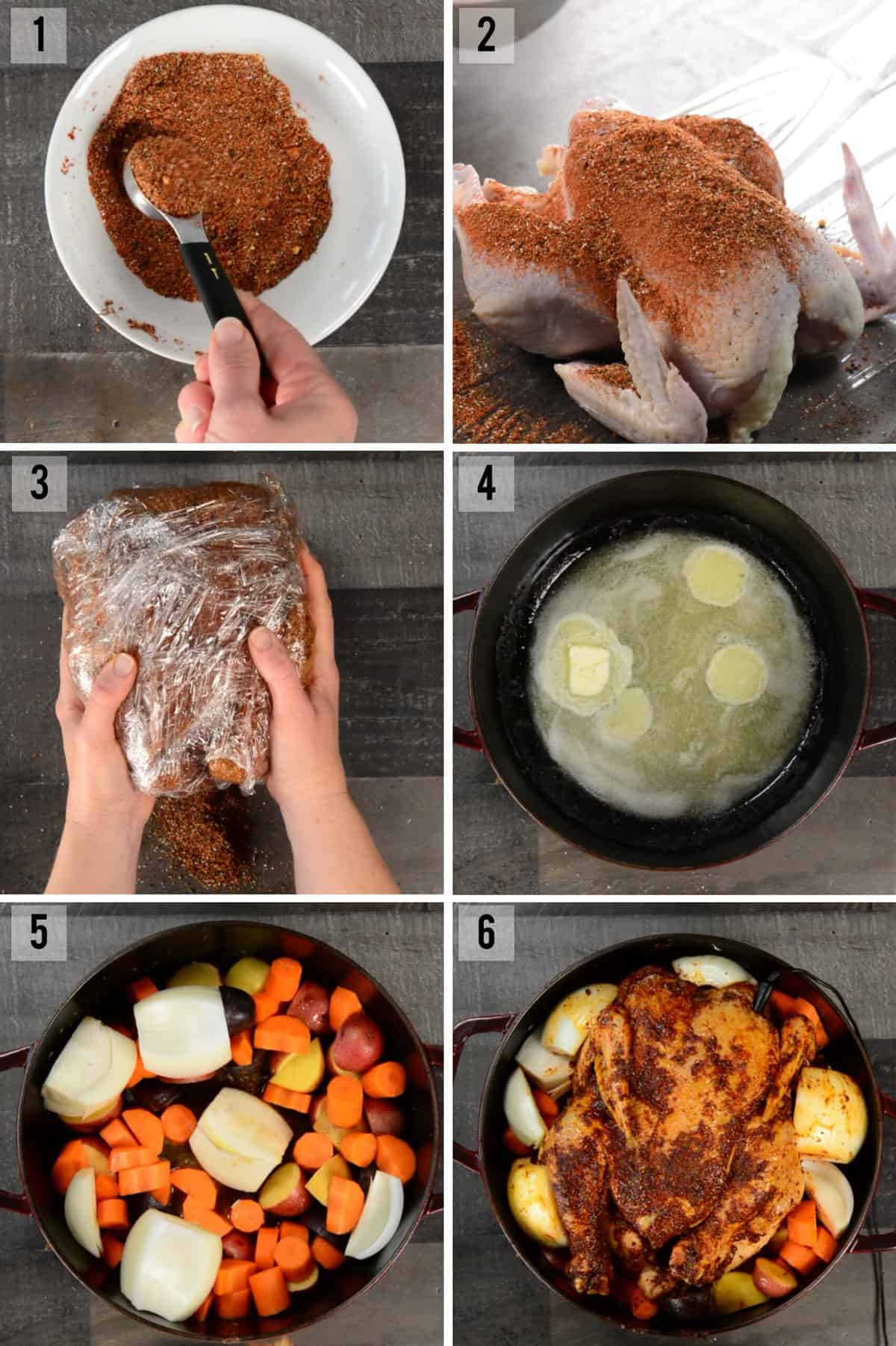 how to roast a chicken in a dutch oven