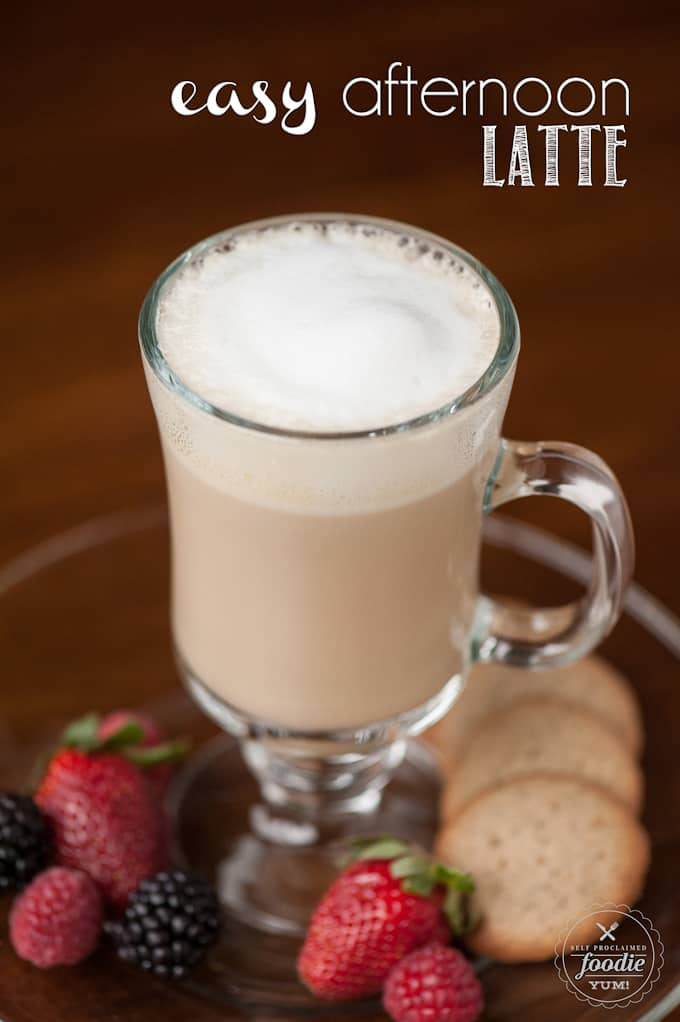 Sometimes the best afternoon treat is a nice cup of coffee, and this Easy Afternoon Latte satisfies my cravings without having to use any kind of machine.