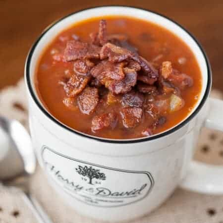 If you're looking for a hot, hearty, comforting meal, this Easy Bean and Bacon Soup is sure to satisfy.