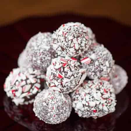 Easy Candy Cane Chocolate Truffles