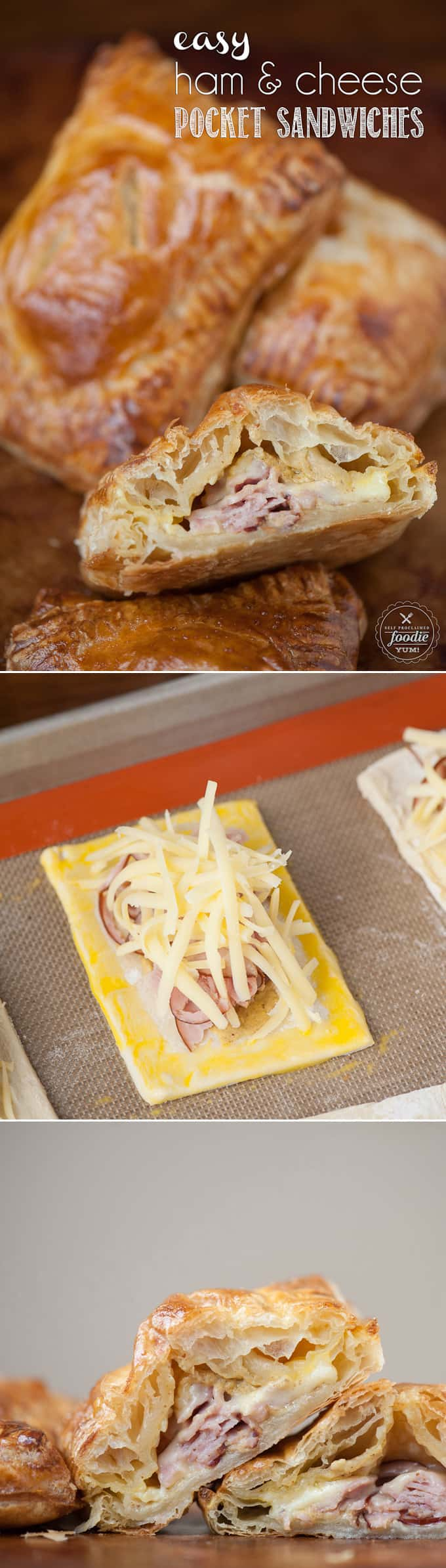 As we get ready to send out kids back to school, lunchbox favorites like these Easy Ham and Cheese Pocket Sandwiches will make your kids smile!
