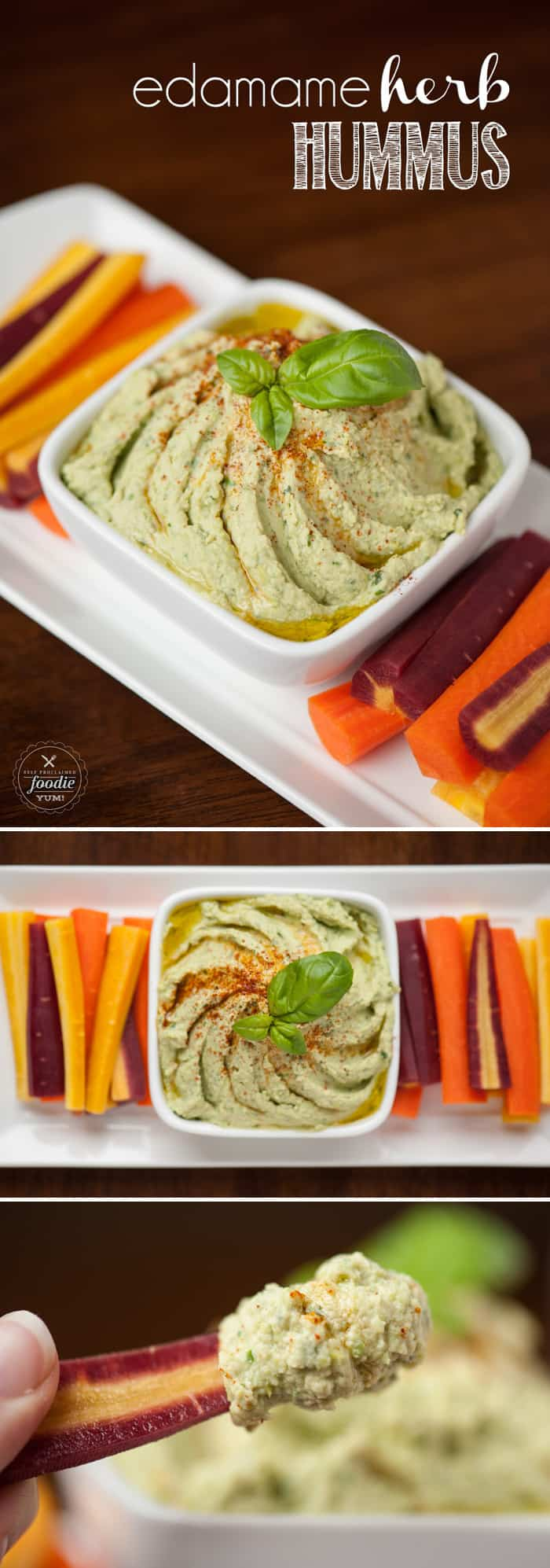 Edamame Herb Hummus | Self Proclaimed Foodie