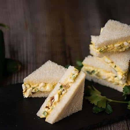 Mini Bacon Jalapeno Egg Salad Sandwiches
