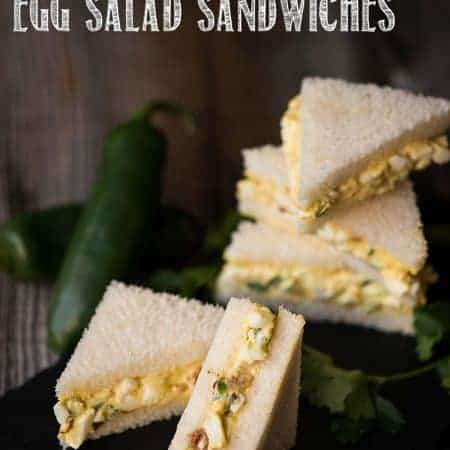 Whether you're preparing a fancy afternoon tea or a game day feast, Mini Bacon Jalapeno Egg Salad Sandwiches are sure to please!