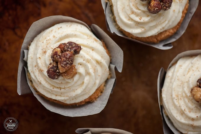These homemade from scratch Eggnog Cupcakes are super light and fluffy with a tight crumb. Must be because they are made with real rich eggnog. YUM!