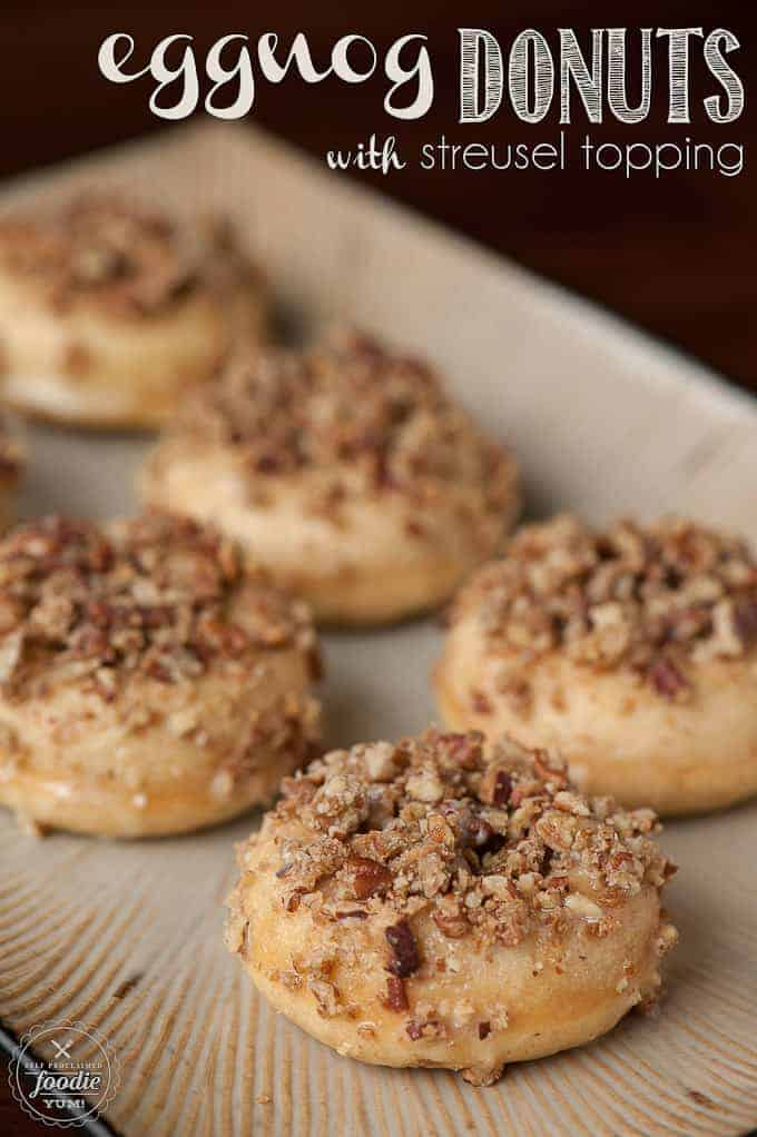 Eggnog Donuts with Streusel Topping | Self Proclaimed Foodie