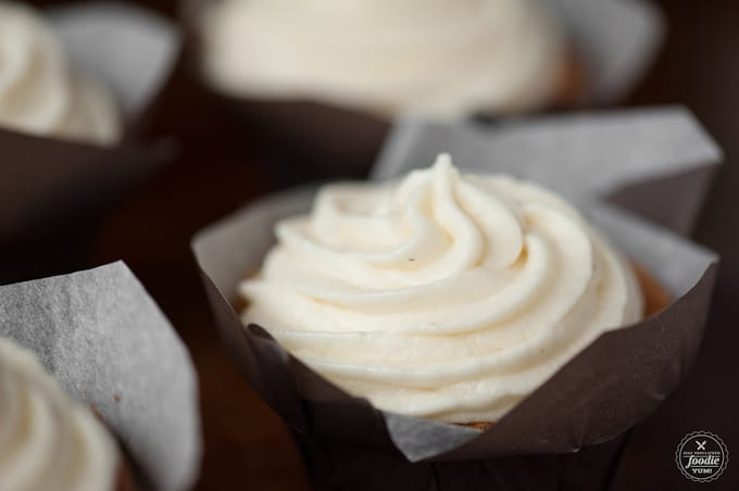 This Eggnog Frosting is a traditional butter frosting with the delicious addition of eggnog, vanilla, and nutmeg. Its perfect for any holiday treat.