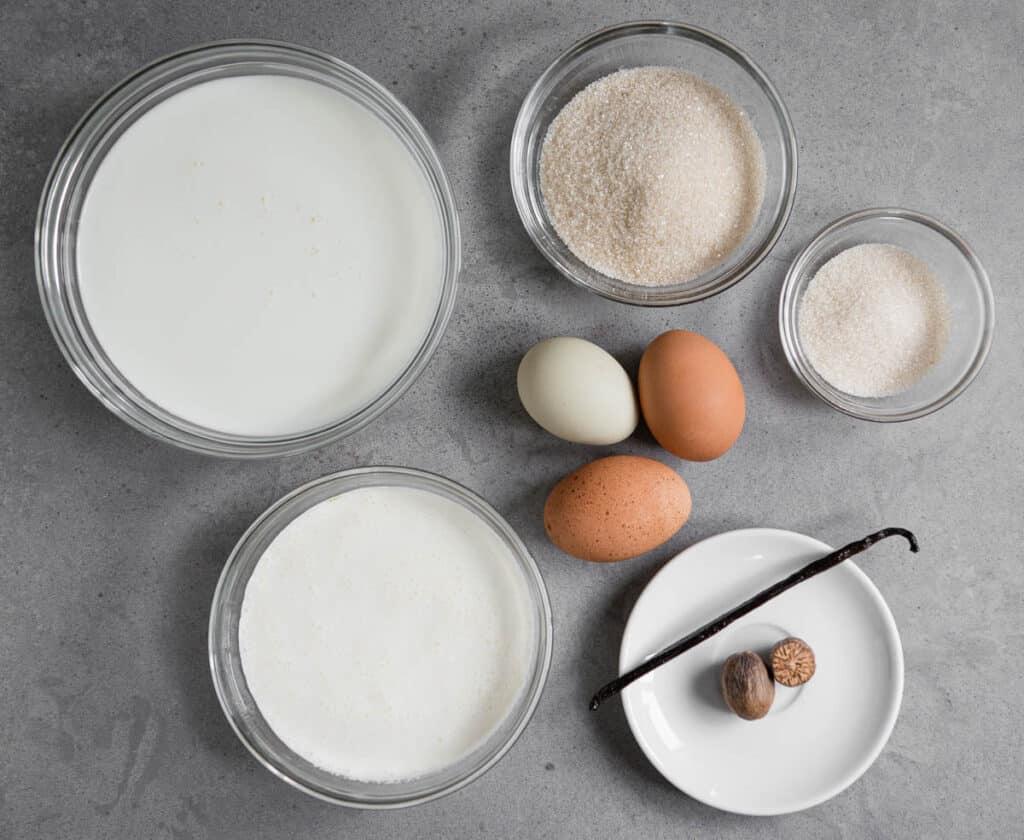 ingredients used to make homemade eggnog