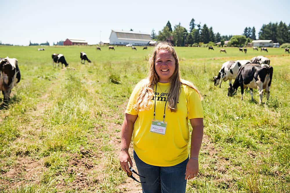 Learn all about my Oregon Organic Valley dairy farm tour. Sustainable farming, pasture raised cows, and animal care!