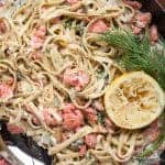 Fettuccine with Salmon Dill Cream Sauce