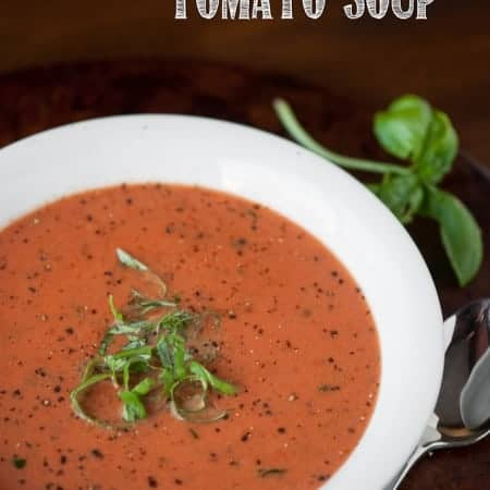 It doesn't get much easier than this Five Minute Cream of Tomato Soup. You cheat by using jarred pasta sauce and the result is delicious comfort food.