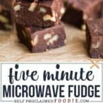 recipe for five minute microwave fudge