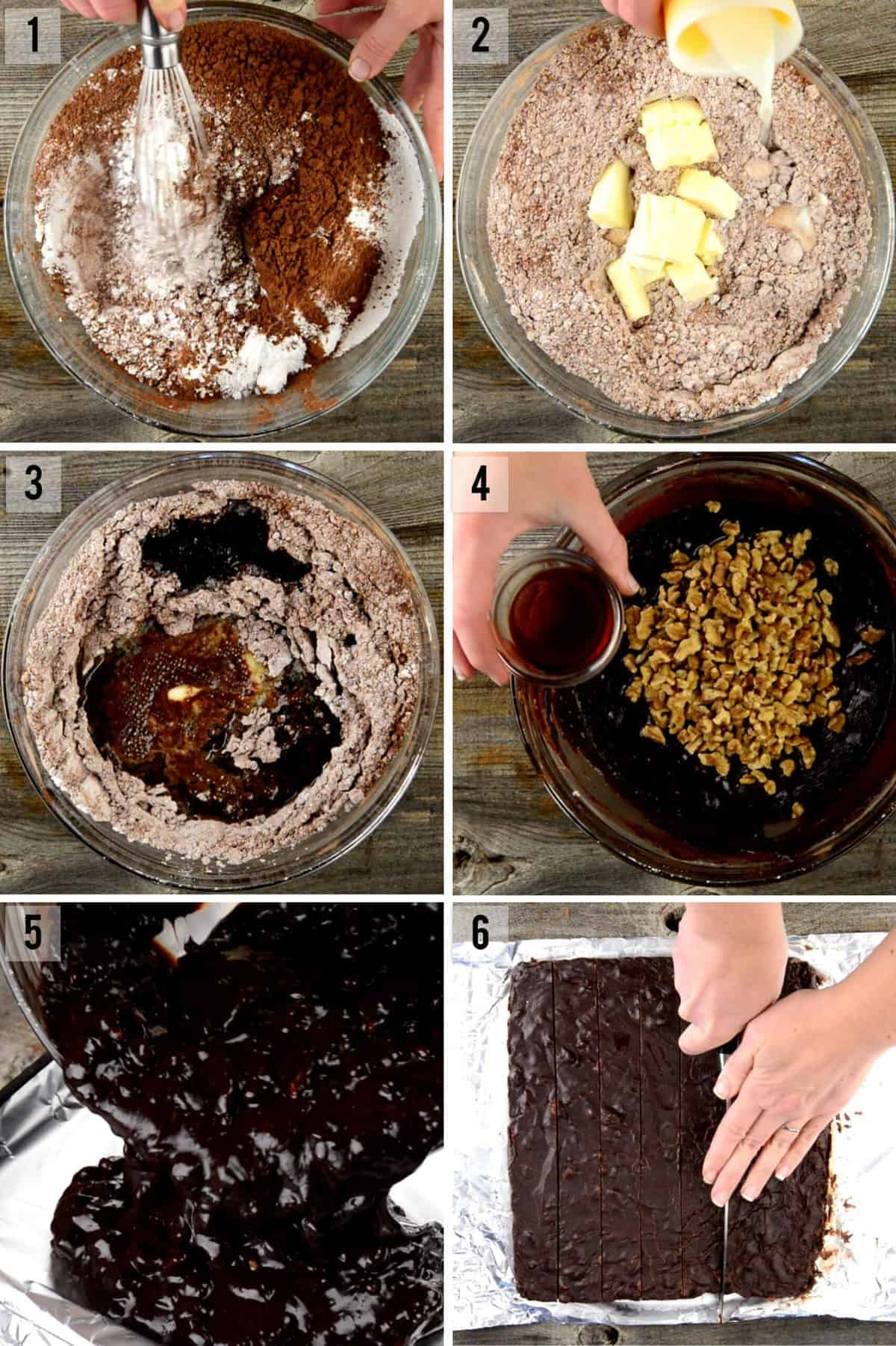 step by step process photos of how to make microwave fudge