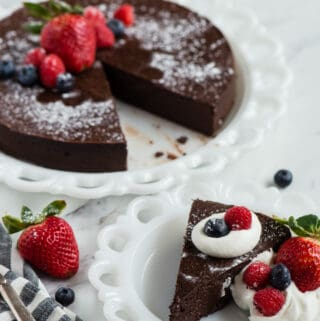 gluten free flourless chocolate cake recipe