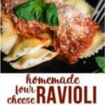 how to make Homemade Four Cheese Ravioli