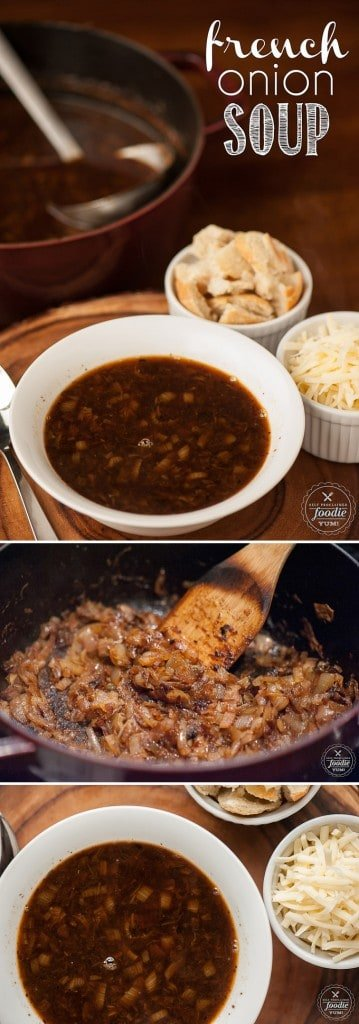 There are a few secrets to developing insanely delicious flavor in a bowl of homemade French Onion Soup, and this recipe is the best I\'ve ever enjoyed!
