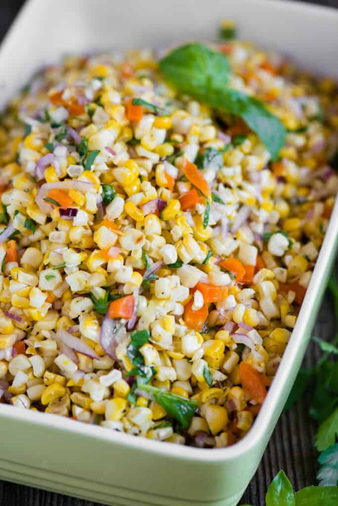 salad made from grilled corn
