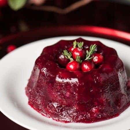 Fresh Cranberry Gelatin Mold