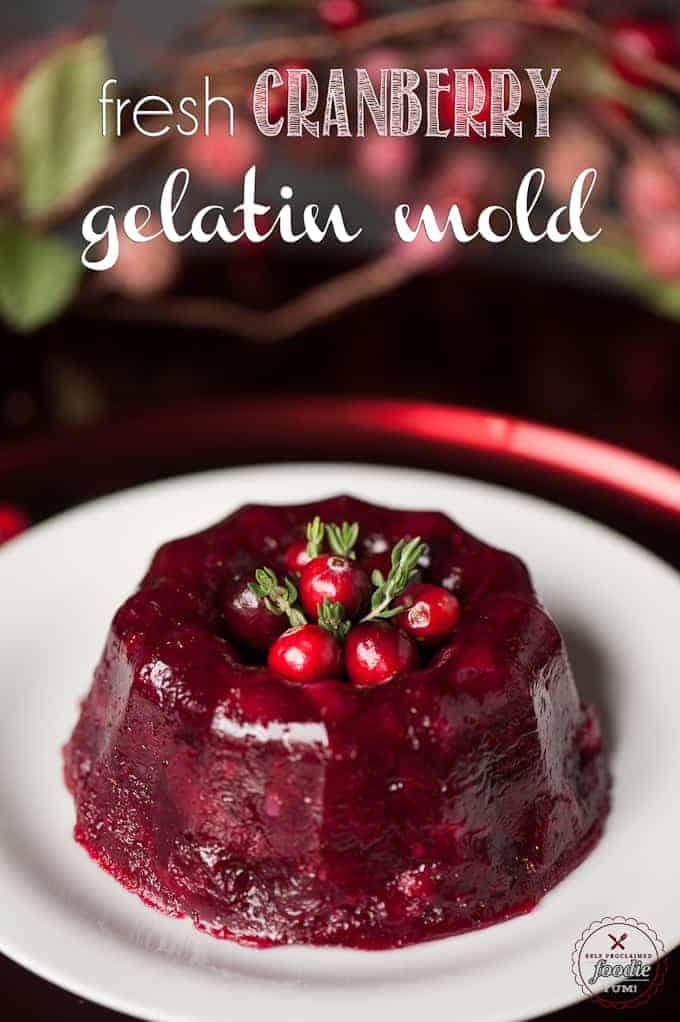 This Thanksgiving, stay away from the cans and make your own elegant homemade Fresh Cranberry Gelatin Mold with the flavors of orange and Grand Marnier.