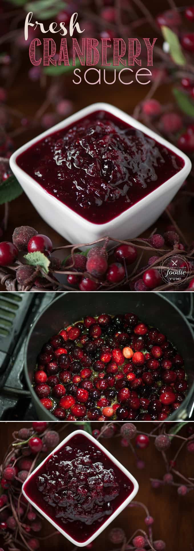 Homemade Cranberry Sauce made with fresh cranberries, orange juice and Grand Marnier is a sweet and incredibly flavorful Thanksgiving side dish. #cranberrysauce #homemadecranberrysauce #thanksgiving