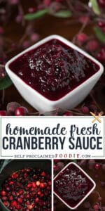homemade fresh cranberry sauce