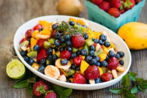 Fruit Salad Recipe with berries, mango, banana