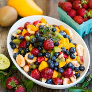 Fruit Salad Recipe with Honey Lime Dressing