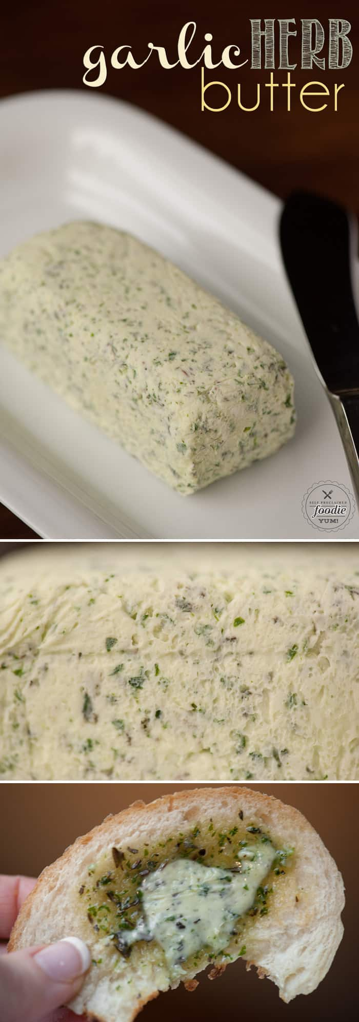 Garlic Herb Butter is an easy way to transform your butter into a savory delicious blend that is a perfect addition to any dinner table.