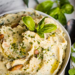 garlic herb mashed potatoes recipe
