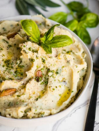 recipe for roasted garlic herb mashed potatoes