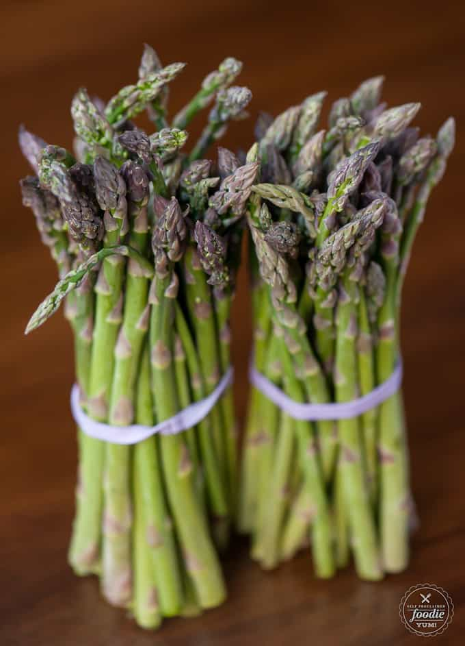 Healthy side dishes don't get any quicker or easier than Garlic Parmesan Roasted Asparagus made with Veggie Drizzle finishing sauce.