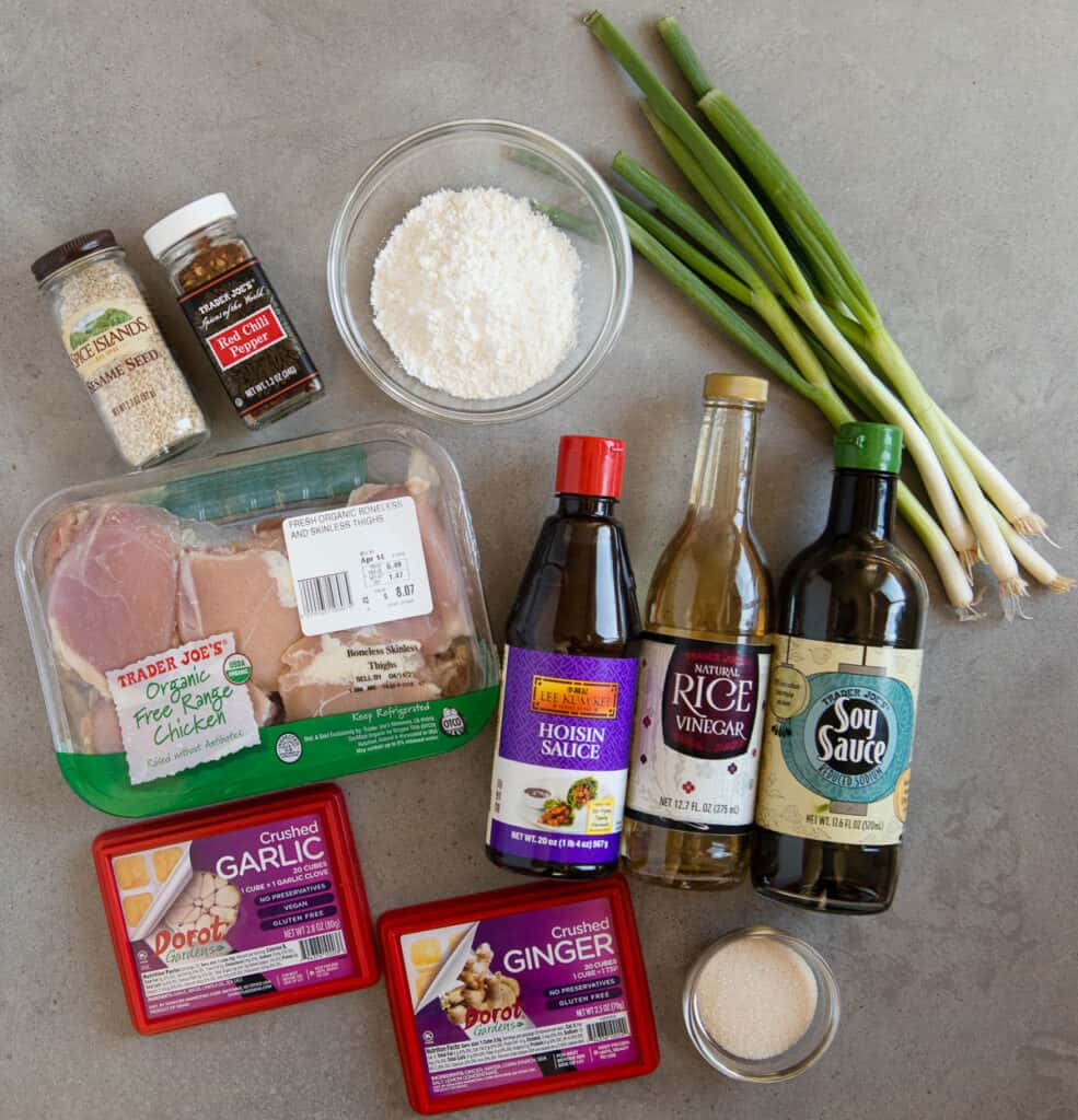 ingredients needed to make General Tso's Chicken