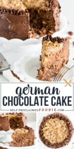 the best homemade German Chocolate Cake recipe with frosting