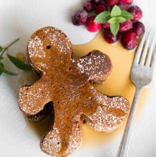gingerbread men pancakes