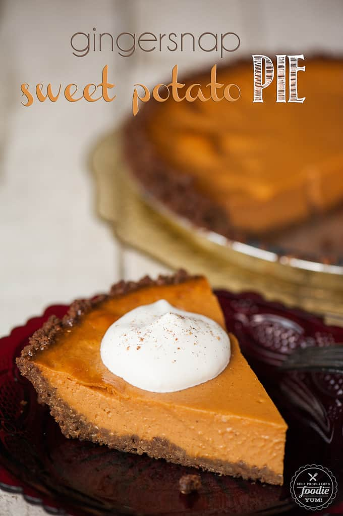 Velvety smooth Gingersnap Sweet Potato Pie is similar to traditional pumpkin pie, but different enough to pleasantly surprise your holiday dinner guests.
