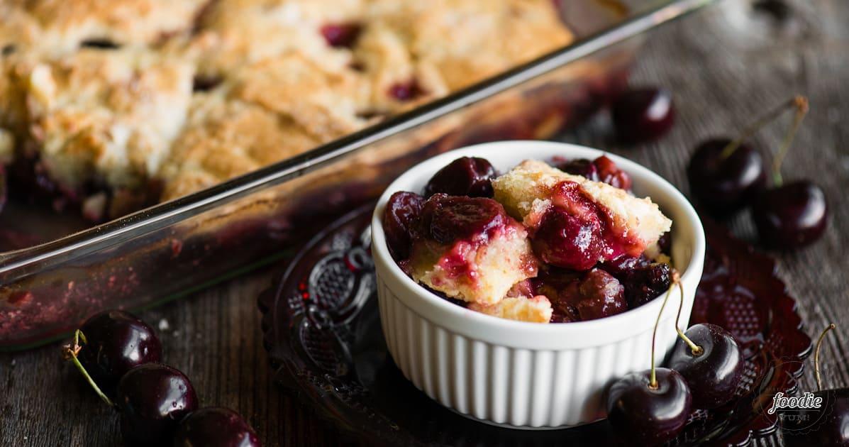 Gluten Free Cherry Cobbler | Self Proclaimed Foodie